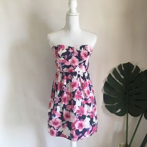 Mossimo Supply Co. floral strapless sun dress M